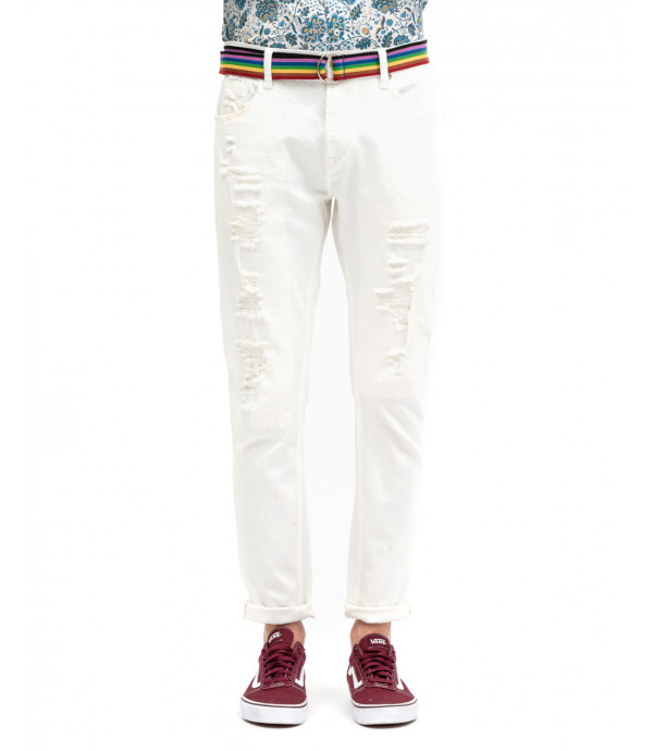 Bruce regular fit basic jeans in white