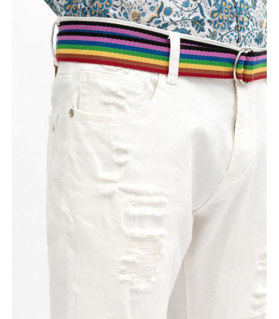 Bruce regular fit basic jeans in white