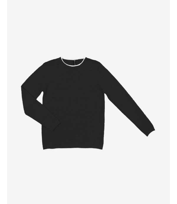 Double edge crewneck sweater