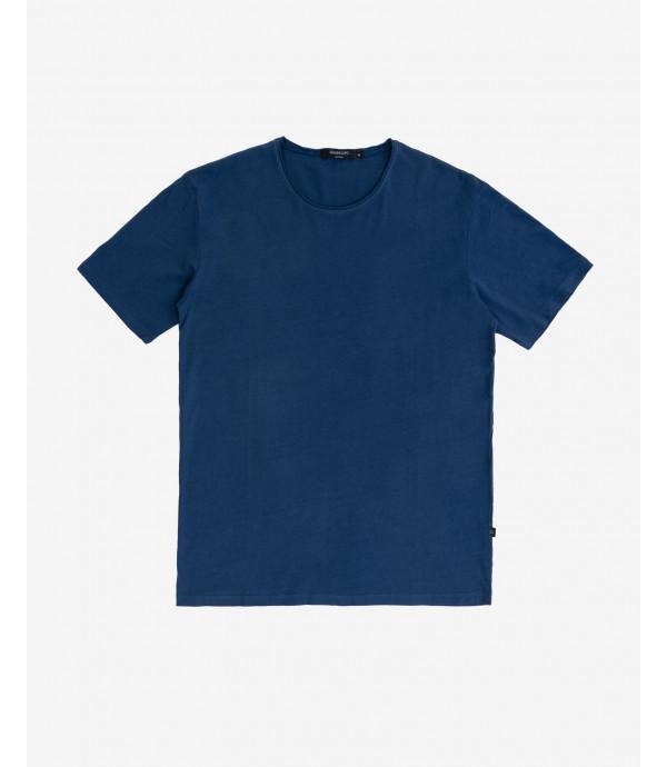 T-shirt basica con taglio a vivo