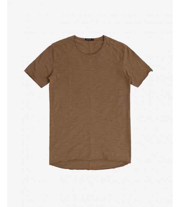 T-shirt fiammata con cucitura