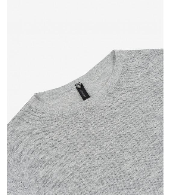 Slubbed crewneck sweater