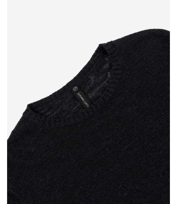 Slubbed crewneck sweater