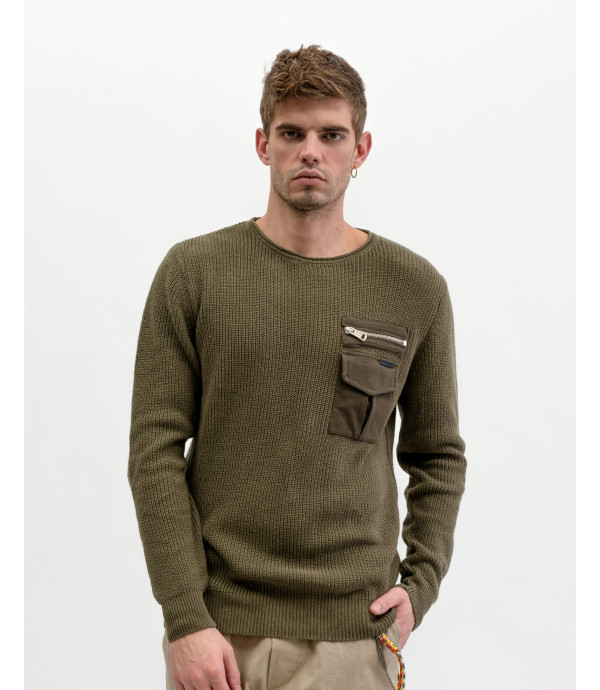 More about Ribbed sweater with pocket