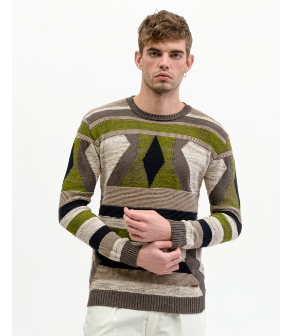 More about Sweater with geometric pattern