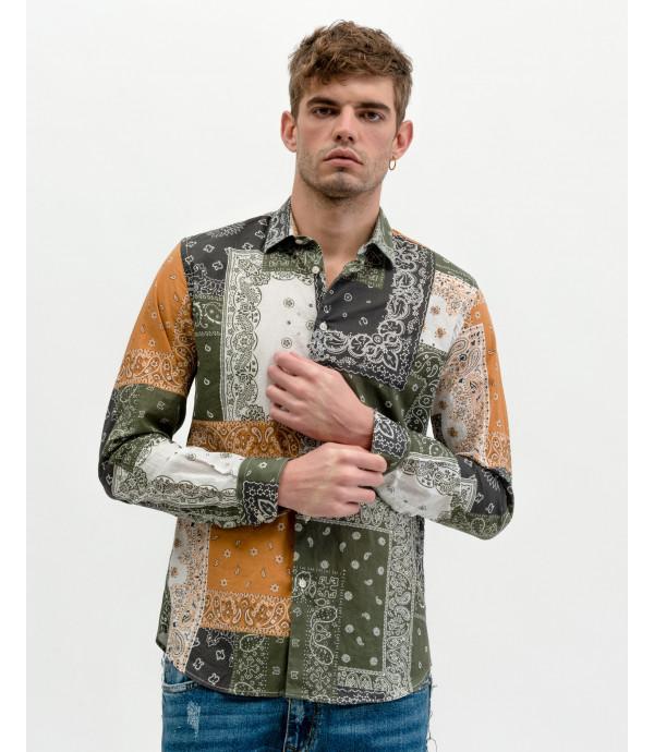 Camicia patchwork fantasia bandana