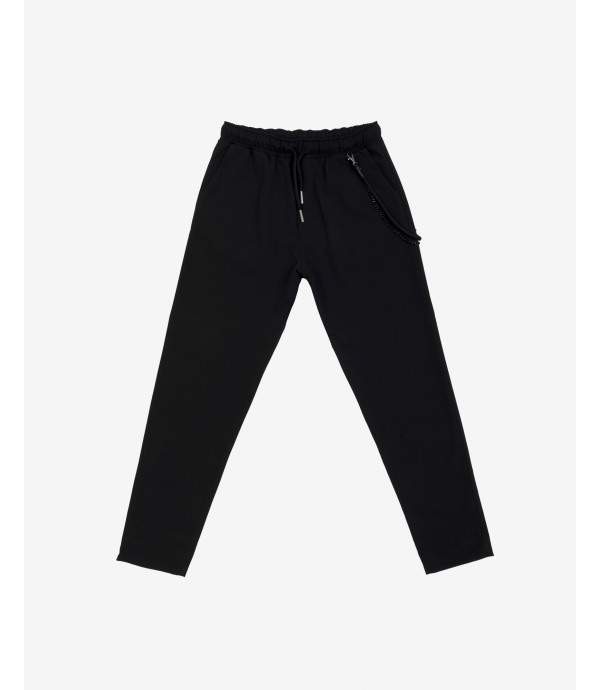 Drawstring trousers with accessory