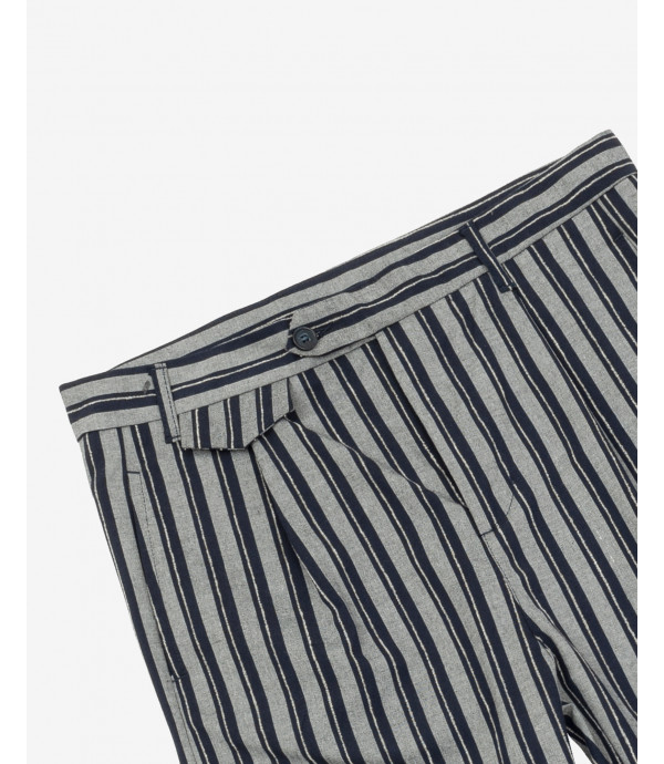 Striped elegant trousers with pleats