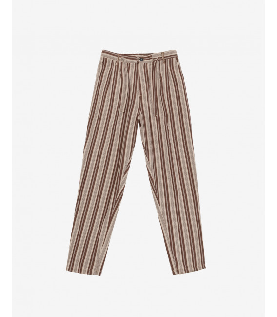Striped drawstring trousers