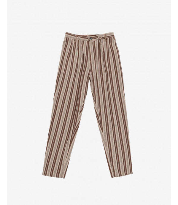 Pantaloni con lacci a righe