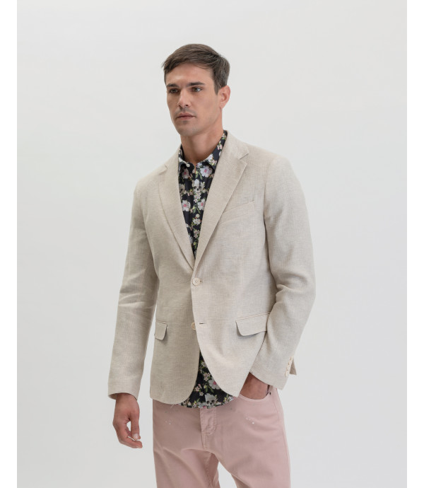 Patterned slim fit blazer