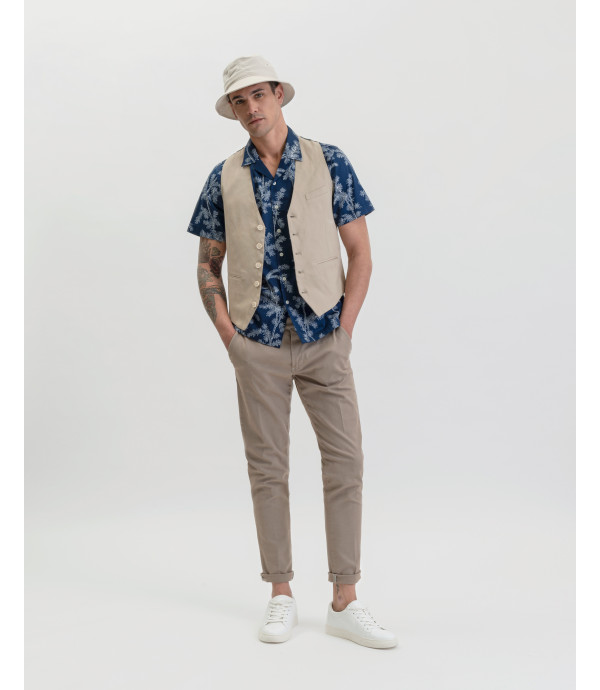 Solid colour waistcoat