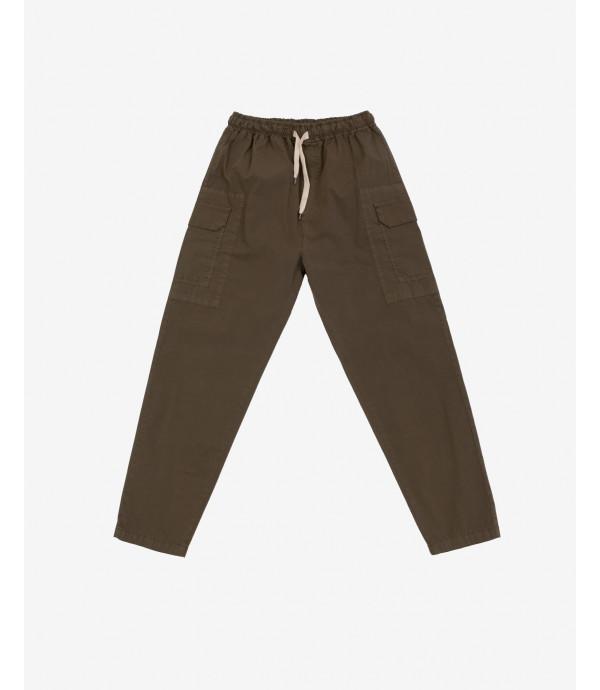 Pantalone cargo con vita elasticizzata