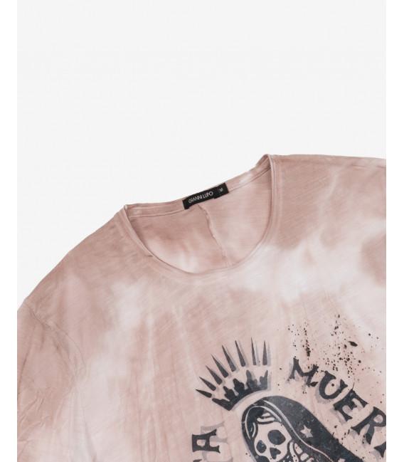 Mexican print tie dye t-shirt