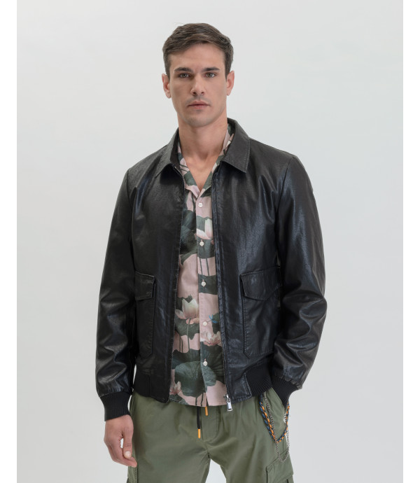 More about Fuax-leather jacket with pockets
