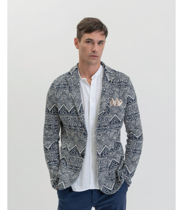 More about Patterned deconstructed blazer