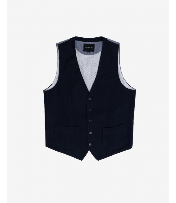 Basic waistcoat in linen mix