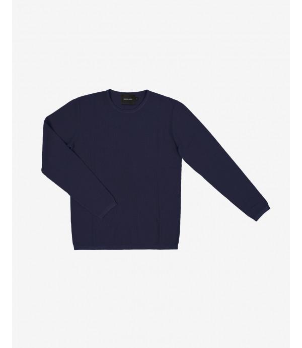 Basic rolled crewneck sweater