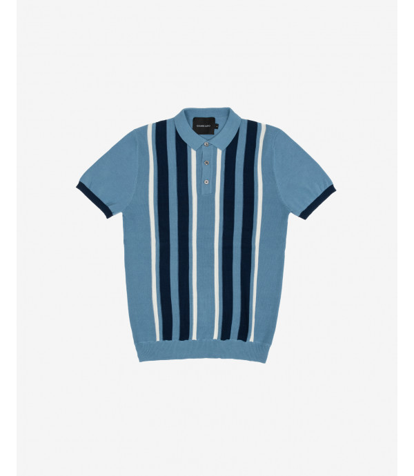 Vertical stripes polo shirt
