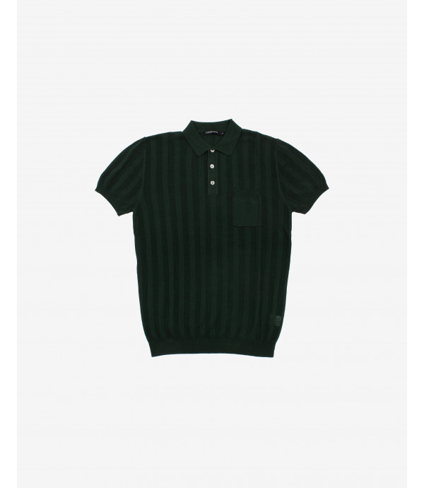 More about Polo shirt with vertical seethrough stripes