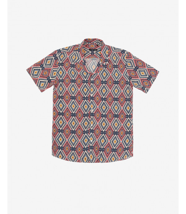 Aztec patterned Hawaiian shirt