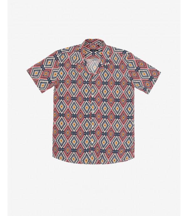 Camicia hawaiiana fantasia Azteca