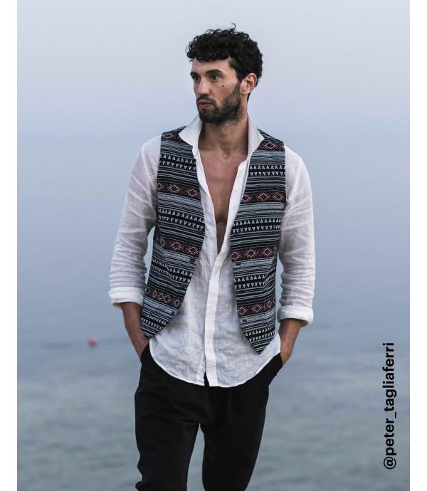 Mayan patterned waistcoat
