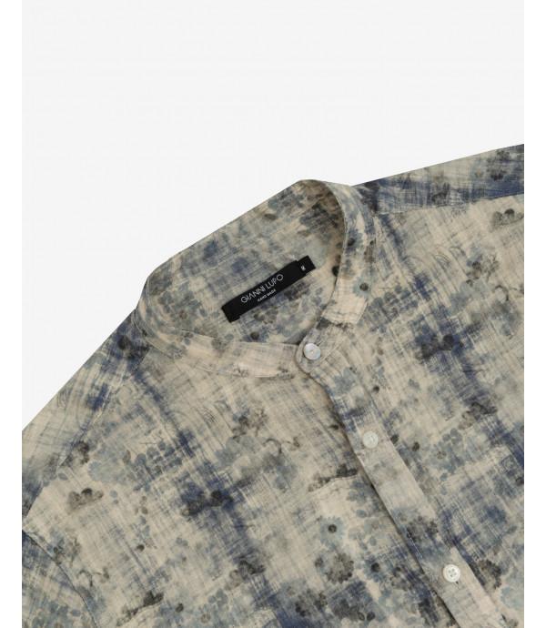 Camicia in lino stampata