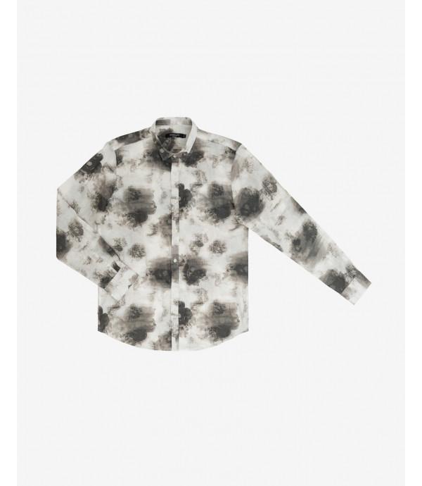 Abstract pattern shirt short sleeves