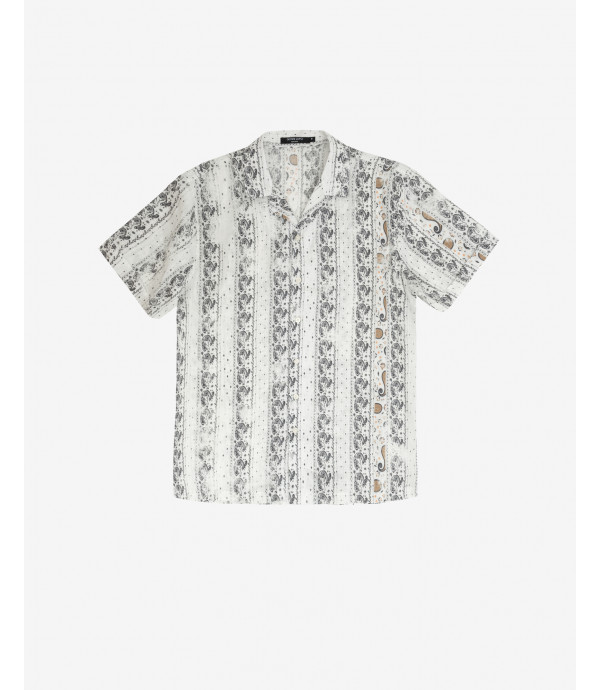 Abstract pattern shirt short sleeves