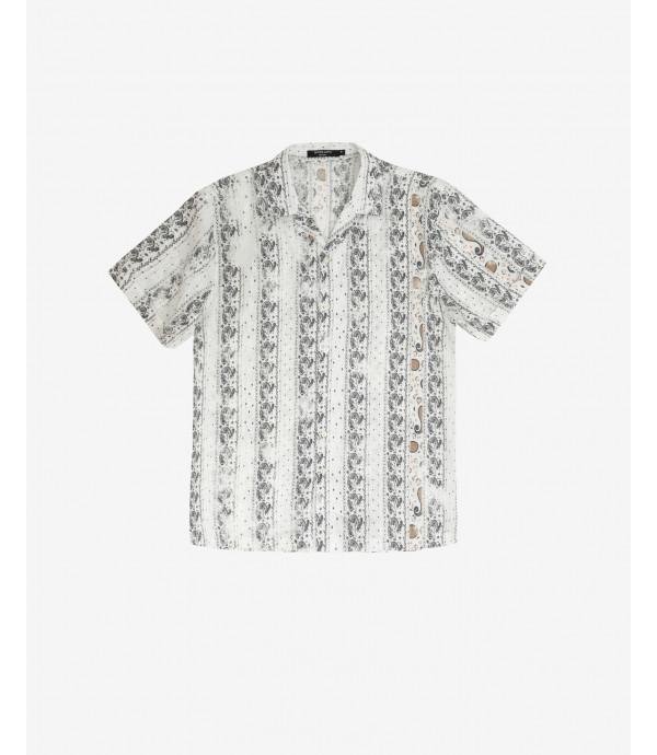 Camicia stampa astratta maniche corte