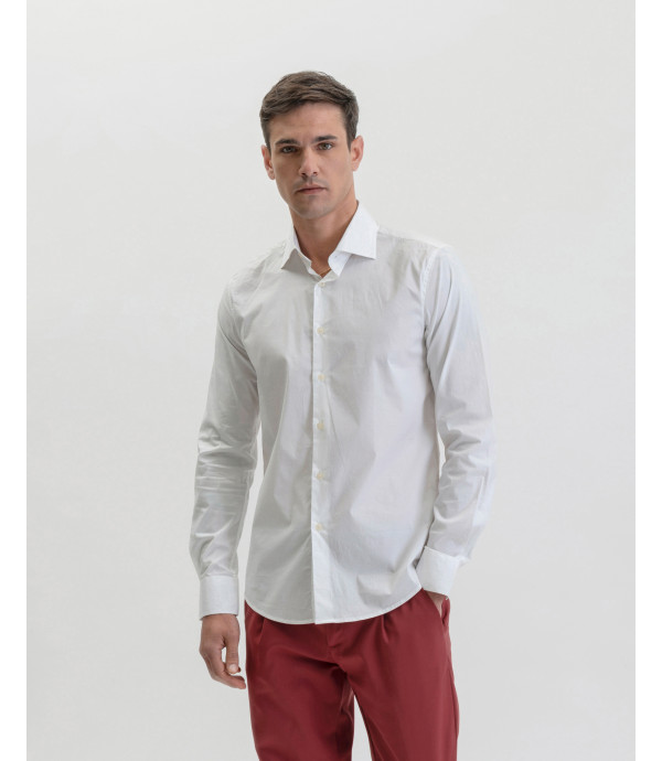 Basic French collar shirt