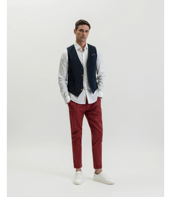 Basic French collar shirt