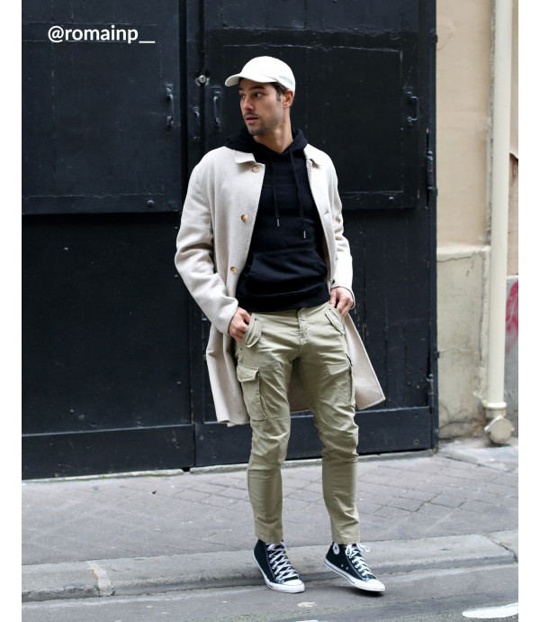 Slim fit cargo trousers