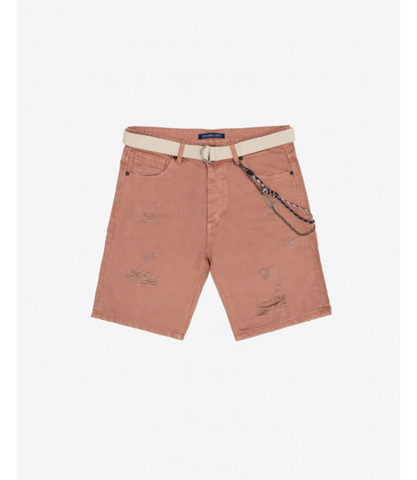 Dusty pink jeans shorts