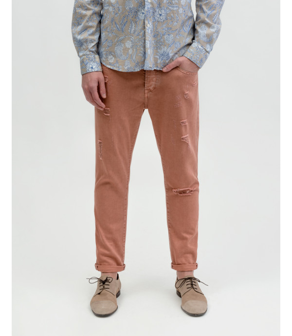 Mike carrot cropped fit jeans with rips