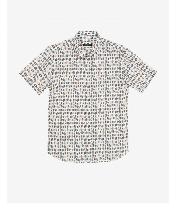 Micro-patterned Hawaiian shirt