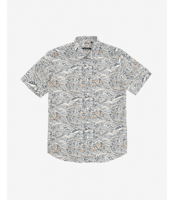 Abstract patterned Hawaiian shirt