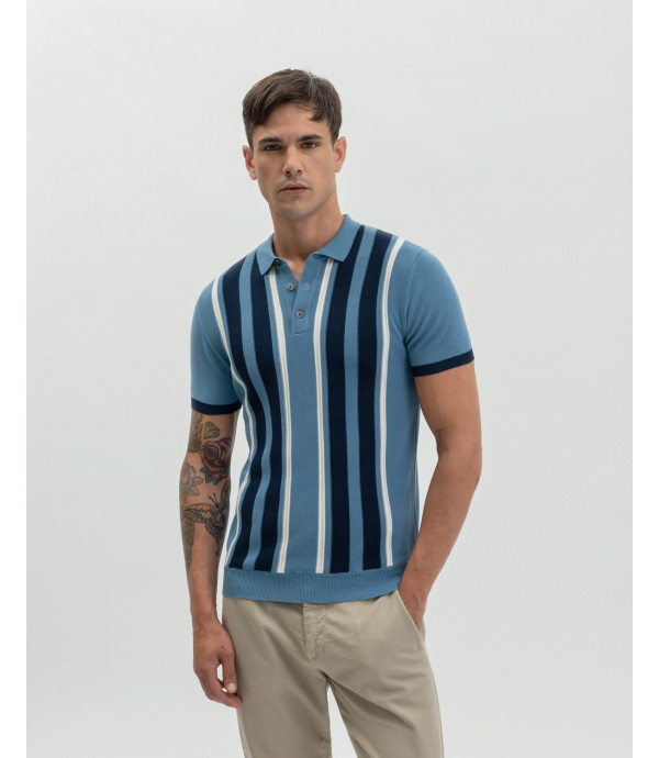 Vertical stripes polo shirt