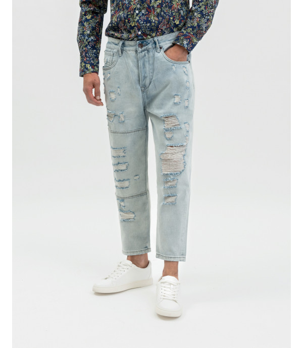 Adam ripped regular cropped fit jeans