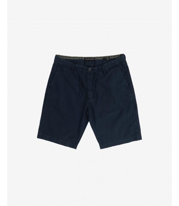 Linen mix drawstring shorts