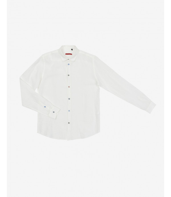 Different buttons linen shirt