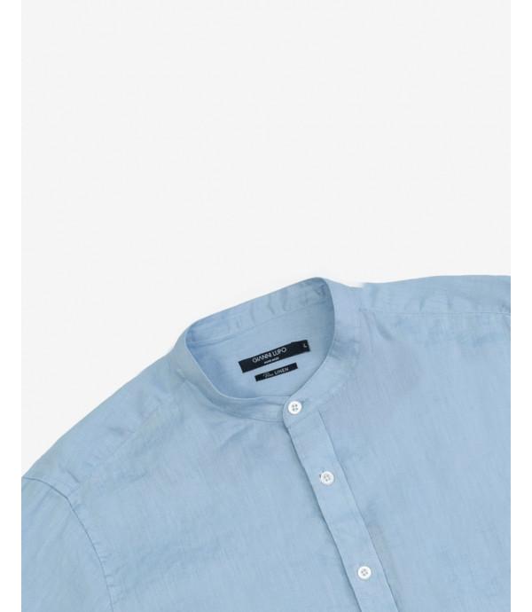 Camicia serafino in lino