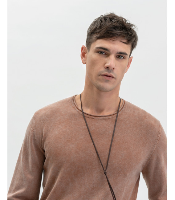 Washied cotton pullover