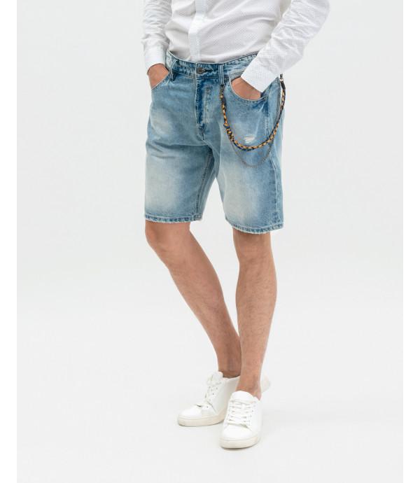 Medium wash jeans shorts