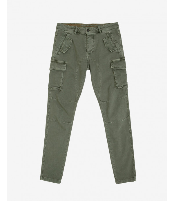 Textured slim fit cargo trousers