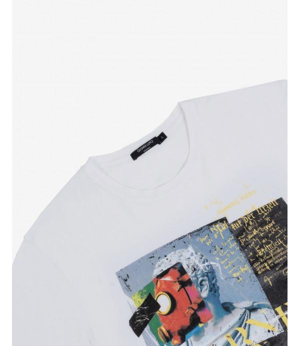 T-shirt stampa warning