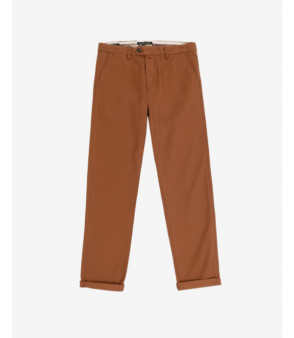Premium chinos with sartorial details and printed lining