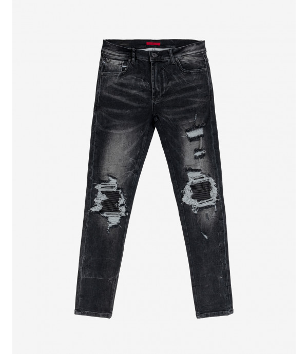 Steve super skinny jeans with rips and repairs
