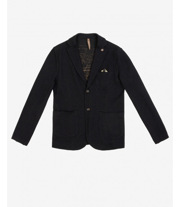 Knitted blazer with pattern